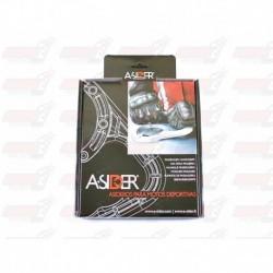 Poignée de réservoir A-SIDER 5 vis couleur argent pour Kawasaki