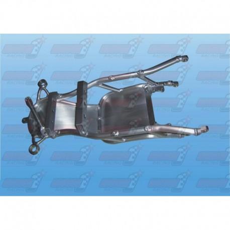 Boucle arrière racing alu avec support batterie alu (arrière de cadre) pour Yamaha R1 (2009-2013)