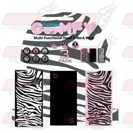 Lot de 3 tours de cou Oxford Comfy Zebra