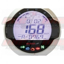 Compteur digital LCD mutlifonctions Koso D64 GP Style rond universel