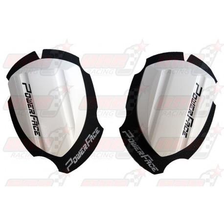 Sliders bois Power Face Spécial Course couleur blanc