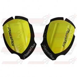 Sliders bois Power Face Spécial Course couleur jaune