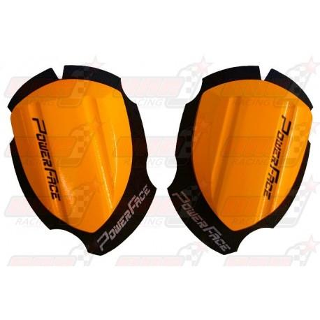 Sliders bois Power Face Spécial Course couleur orange