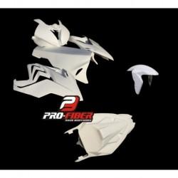 Carénage complet fibre avec lèche roue avant Pro Fiber pour Bmw S1000RR (2015-2018)