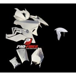 Carénage complet fibre racing avec lèche roue avant Pro Fiber pour Bmw S1000RR (2015-2018)