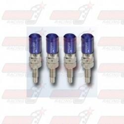 Lot de 4 Vis de purge automatique STAHLBUS M6x1.0x16 acier capuchon bleu