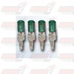 Lot de 4 Vis de purge automatique STAHLBUS M6x1.0x16 acier capuchon vert