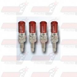 Lot de 4 Vis de purge automatique STAHLBUS M6x1.0x16 acier capuchon rouge