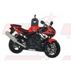 Porte-clés 3D Yamaha R6 2003 rouge/noir