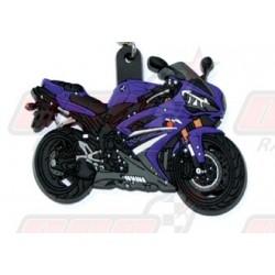 Porte-clés 3D Yamaha R1 2007 violet