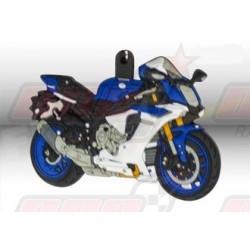 Porte-clés 3D Yamaha YZF-R1 bleu/blanc
