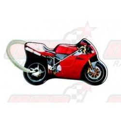 Porte-clés résine Ducati rouge