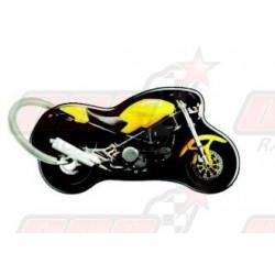 Porte-clés résine Ducati Monster jaune