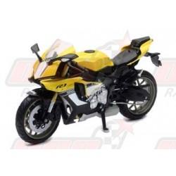 Modèle réduit 1/12 Yamaha YZF-R1 2016 jaune