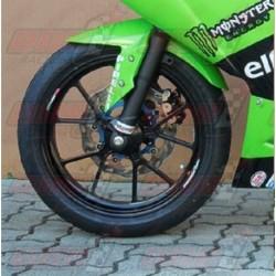 Lèche roue avant fibre Plastic Bike pour Kawasaki 300R (2013-2017)
