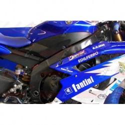 Protections de cadre carbone Plastic Bike pour Yamaha YZF-R6 (2008-2018)