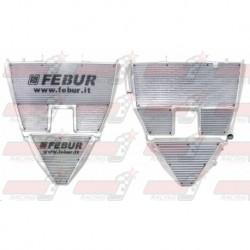 Radiateur eau/huile racing Febur avec durites huile pour Aprilia RSV 1000 (2004-2008)