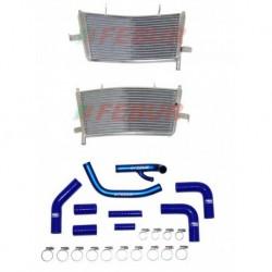 Radiateur additionel eau racing Febur avec durites silicone pour Aprilia RSV 1000 (2009-2019)
