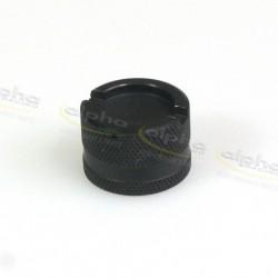 Capuchon en aluminium noir pour robinet de vidange d'huile Alpha Racing