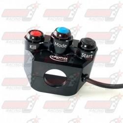 Commodo racing droit Alpha Racing 3 boutons pour BMW S1000RR (2019) et M1000RR (2021)