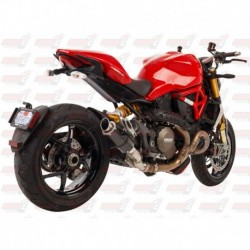 Silencieux MGP Exhaust finition Carbone pour Ducati Monster 821/1200/S (2014-2018)