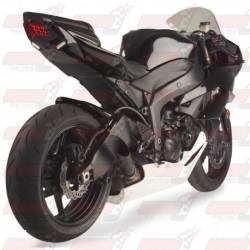Silencieux HotBodies Racing Megaphone finition Noire pour Kawasaki ZX10R (2008-2010) et ZX6R (2009-2018)