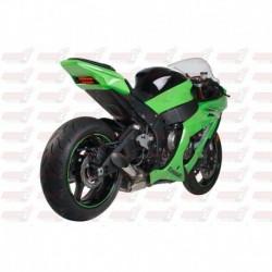 Silencieux HotBodies Racing Megaphone finition poli pour Kawasaki ZX10R (2011-2018)