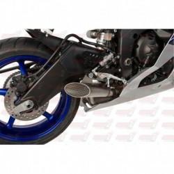Silencieux HotBodies Racing Megaphone finition grillagé pour Kawasaki ZX10R (2011-2018)
