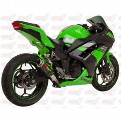 Silencieux MGP Exhaust finition Carbone pour Kawasaki Ninja 300 (2013-2017)