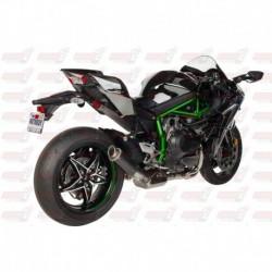 Silencieux MGP Exhaust finition Carbone pour Kawasaki Ninja H2 (2015-2018)