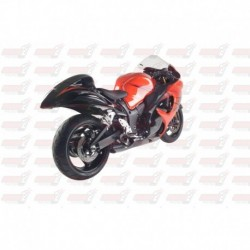 Silencieux HotBodies Racing Dual Megaphone finition chromé pour Suzuki HAYABUSA (2008-2018)