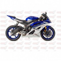 Silencieux HotBodies Racing Megaphone finition grillagé pour Yamaha YZF-R6 (2006-2017)