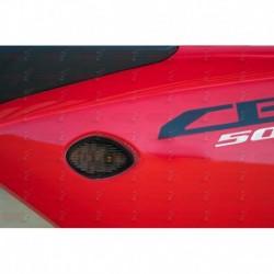 Paire de clignotants led HotBodies Racing couleur fumée pour Honda CBR500R (2013-2015)