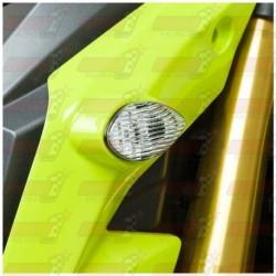 Paire de clignotants led HotBodies Racing couleur transparente pour Honda MSX125 Grom (2013-2015 et  2017)