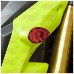 Paire de clignotants led HotBodies Racing couleur rouge pour Honda MSX125 Grom (2013-2015 et  2017)