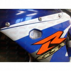 Paire de clignotants led HotBodies Racing couleur transparente pour Suzuki GSXR 600/750/1000 (2000-2003) (Non SRAD)