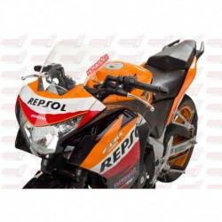 Bulle HotBodies Racing transparente pour Honda CBR250R (2011-2014)