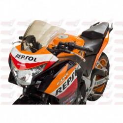 Bulle double courbures HotBodies Racing légèrement fumé pour Honda CBR250R (2011-2014)