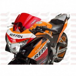 Bulle double courbures HotBodies Racing rouge pour Honda CBR250R (2011-2014)