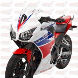 Bulle HotBodies Racing transparente pour Honda CBR300R (2015-2018)