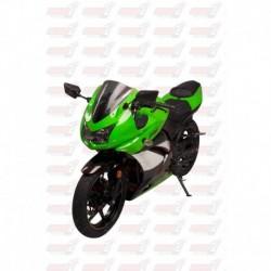 Bulle double courbures HotBodies Racing fumée pour Kawasaki Ninja 250R (2008-2012)