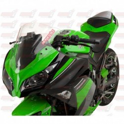 Bulle double courbures HotBodies Racing transparente pour Kawasaki Ninja 300 (2013-2017)