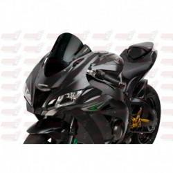 Bulle double courbures HotBodies Racing noire opaque pour Kawasaki ZX10R (2016-2018)