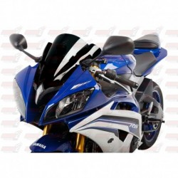 Bulle double courbures HotBodies Racing noire opaque pour Yamaha YZF-R6 (2008-2016)