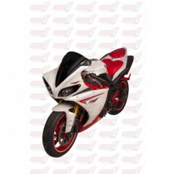 Bulle double courbures HotBodies Racing noire opaque pour Yamaha YZF-R1 (2009-2014)