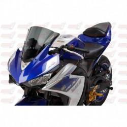 Bulle double courbures HotBodies Racing fumée pour Yamaha YZF-R3 (2015-2017)