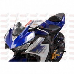 Bulle double courbures HotBodies Racing transparente pour Yamaha YZF-R3 (2015-2017)