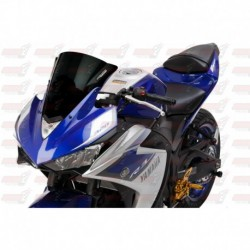 Bulle double courbures HotBodies Racing noire opaque pour Yamaha YZF-R3 (2015-2017)