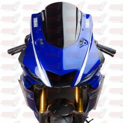 Bulle double courbures HotBodies Racing noire opaque pour Yamaha YZF-R6 (2017-2018)