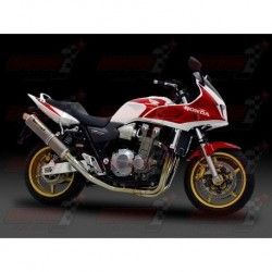Ligne complète titane Yoshimura Titanium Cyclone silencieux finition Inox pour pour Honda CB1300SB/SF (2003-2007)